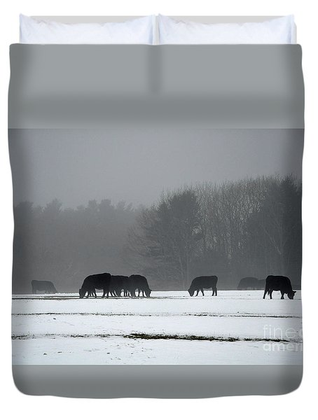 Duvet Cover featuring the photograph Foraging by Glenn Gordon