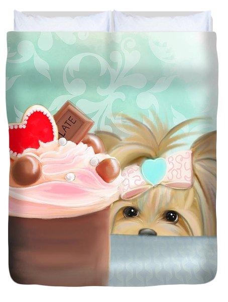 Forbidden Cupcake Duvet Cover
