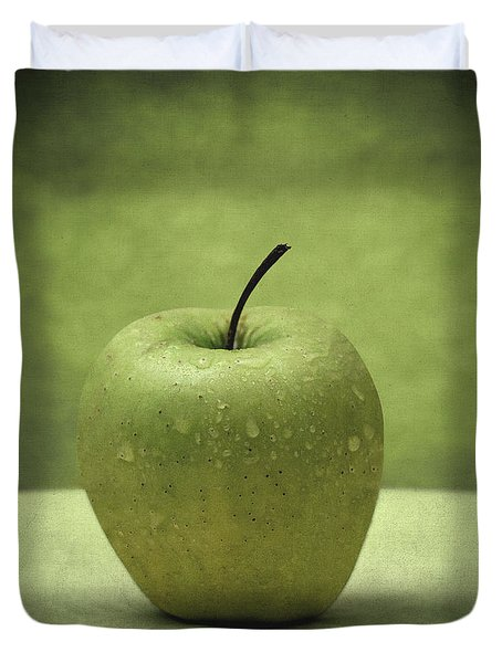 Forbidden Fruit Duvet Cover by Taylan Apukovska