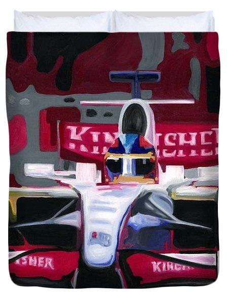 Force India Rising In F1 Monaco Grand Prix 2008 Duvet Cover