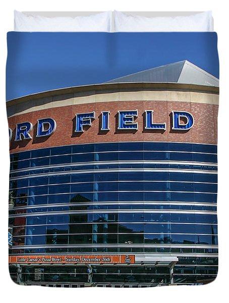 Ford Field  Duvet Cover