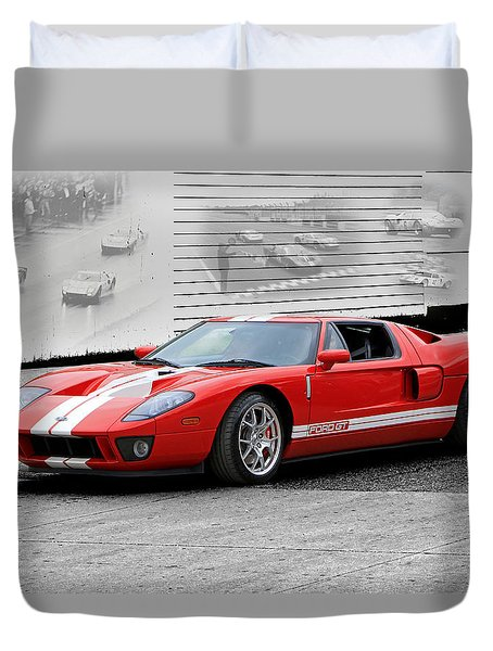 Ford Gt And Gt40 Memories Duvet Cover