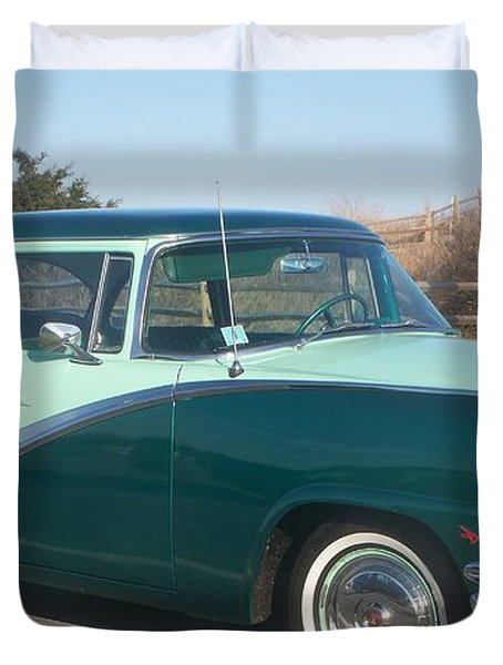 Ford Mercury Duvet Cover by Eric  Schiabor