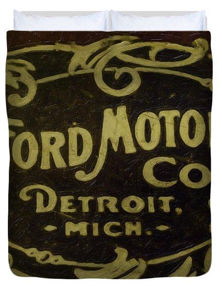 Ford Motor Company Duvet Cover