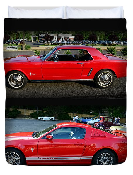 Ford Mustang Old Or New Duvet Cover by Paul Ward
