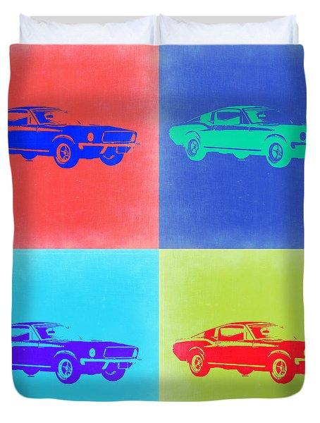 Ford Mustang Pop Art 2 Duvet Cover