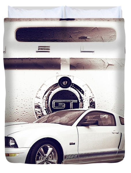 Ford Mustang Shelby Gt  Duvet Cover by Gray  Artus