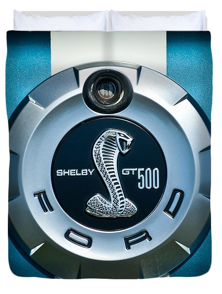 Ford Shelby Gt 500 Cobra Emblem Duvet Cover