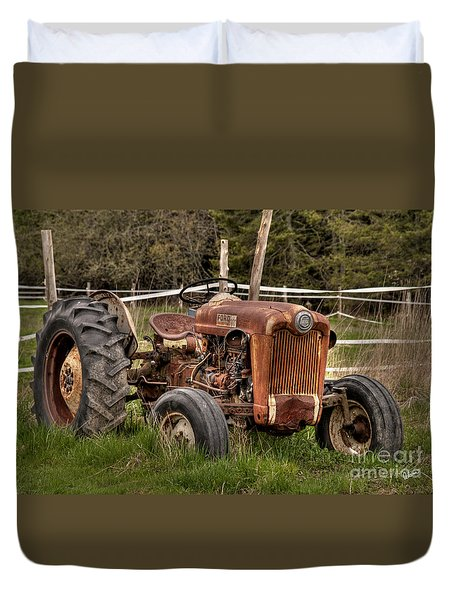 Ford Tractor Duvet Cover by Alana Ranney