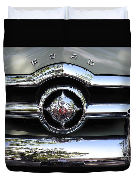 Ford V8 1949 - Vintage Duvet Cover by The Art of Alice Terrill