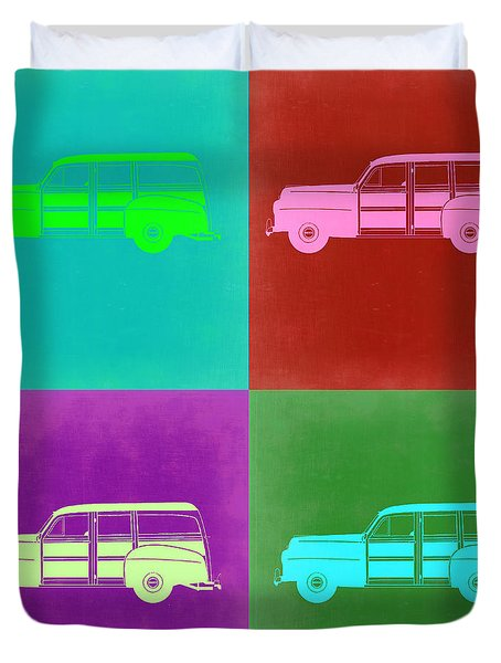 Ford Woody Pop Art  Duvet Cover