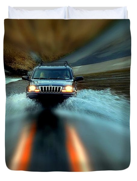 Fording The Jordan Duvet Cover