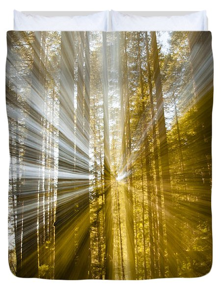 Forest Abstract Duvet Cover