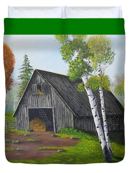 Forest Barn Duvet Cover by Sheri Keith