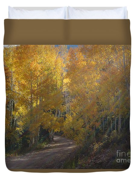 Duvet Cover featuring the photograph Forest Bathing by Deborah Moen