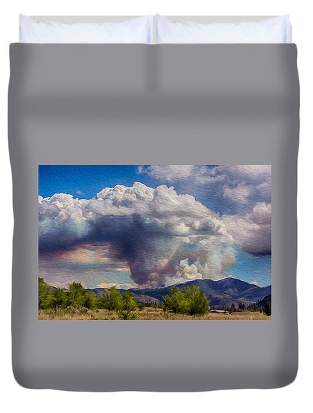 Forest Fire South Of Twisp Duvet Cover by Omaste Witkowski