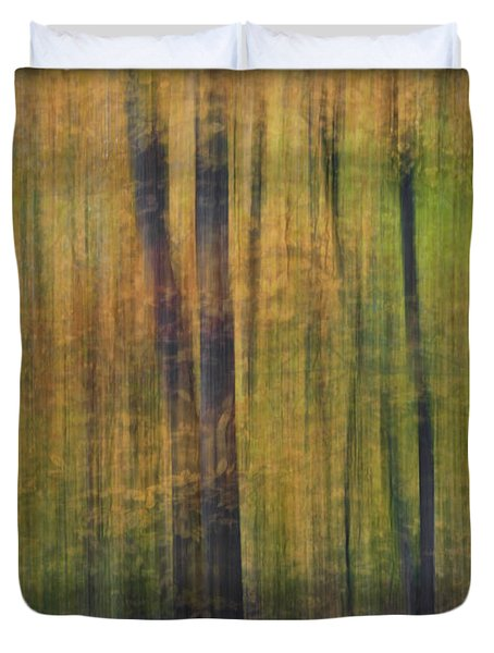 Forest Glow Duvet Cover by Susan Candelario