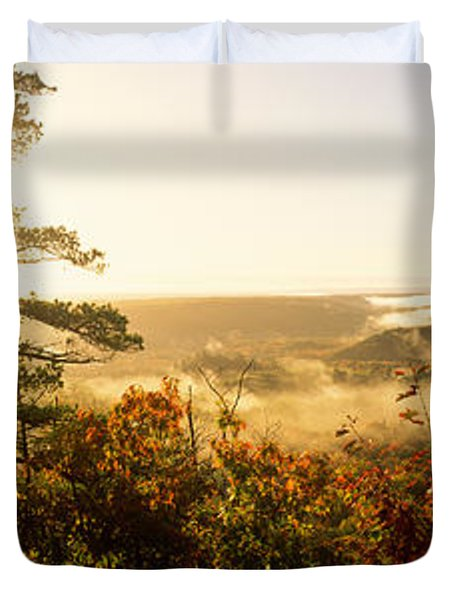 Forest In Autumn At Sunset, Ottawa Duvet Cover
