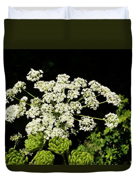Duvet Cover featuring the photograph Forest Lace by VLee Watson