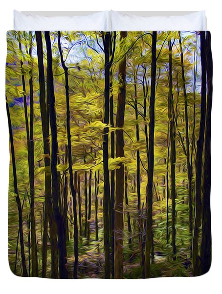 Forest Duvet Cover by Lanjee Chee