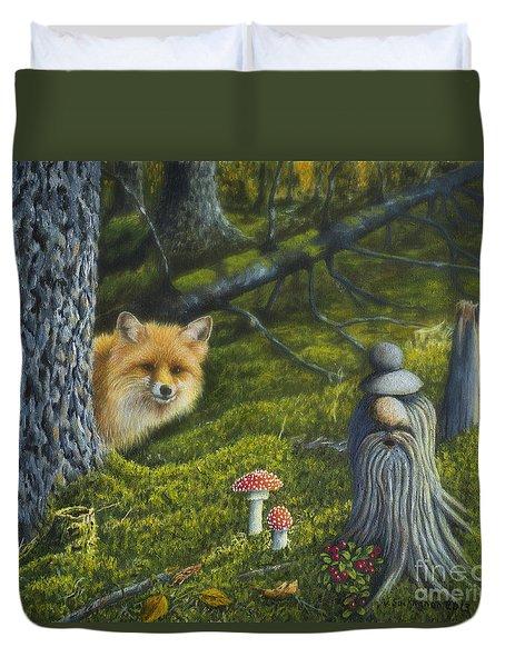 Forest Life Duvet Cover by Veikko Suikkanen
