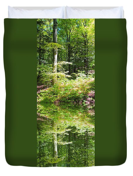 Forest Reflections Duvet Cover by John Stuart Webbstock