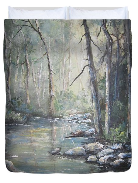 Forest Stream Duvet Cover by Megan Walsh