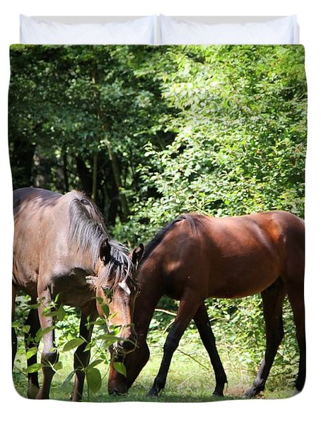 Forest Visitors Duvet Cover