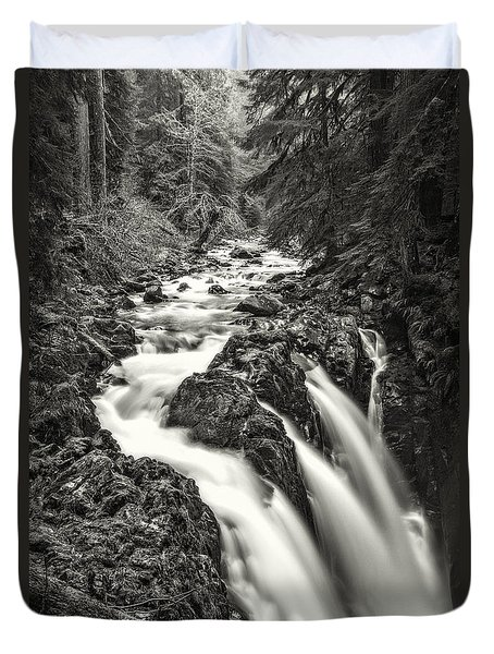 Forest Water Flow Duvet Cover by Ken Stanback