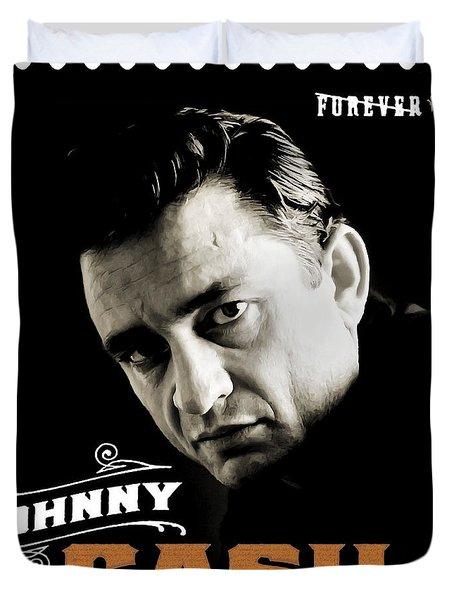 Forever Johnny Cash Stamp 2013 Duvet Cover