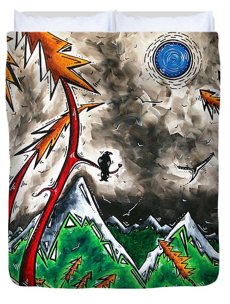 Forever Wild Original Madart Painting Duvet Cover by Megan Duncanson