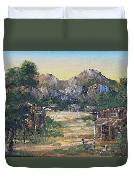 Forgotten Village Duvet Cover