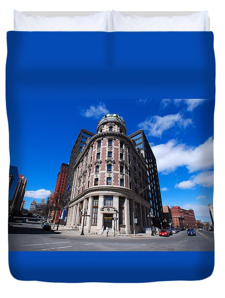 Duvet Cover featuring the photograph Fork Albany N Y by John Schneider