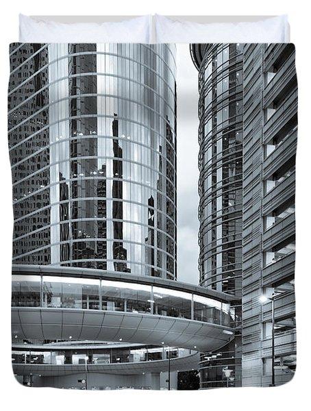 Former Enron Skybridge Ghosts Of The Past - Houston Texas Duvet Cover