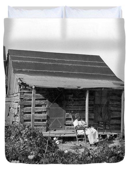 Former Slaves At Their Cabin Duvet Cover
