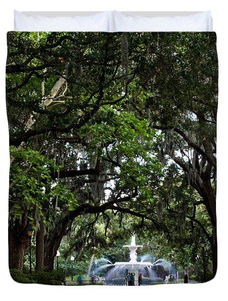 Forsyth Park Fountain Savannah Georgia  Duvet Cover