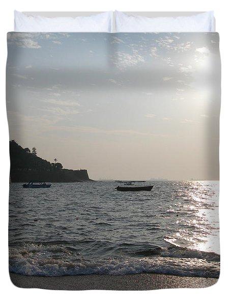 Fort Aguada Beach Duvet Cover