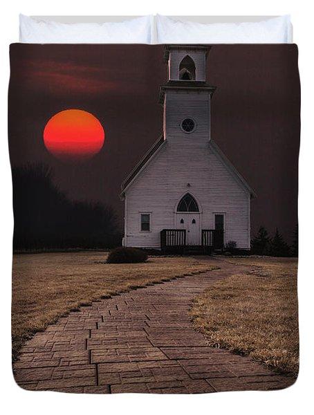 Fort Belmont Sunset Duvet Cover