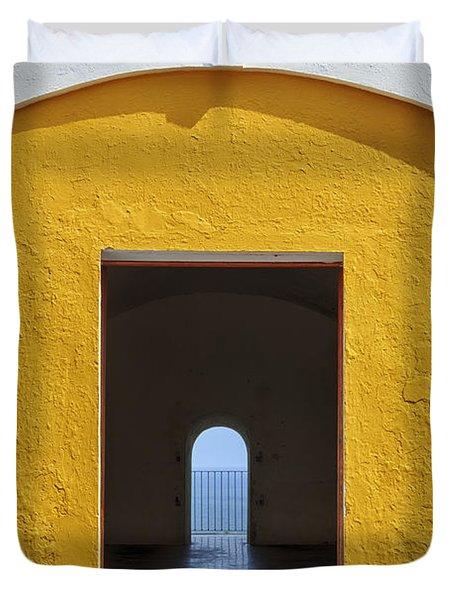 Fort Castillo San Felipe Del Morro Duvet Cover