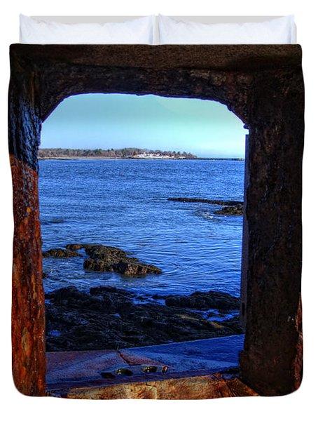Fort Constitution Duvet Cover by Joann Vitali