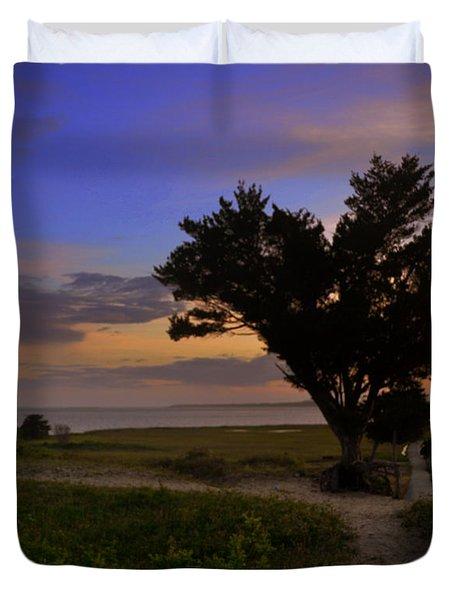 Fort Fisher Sunset  Duvet Cover