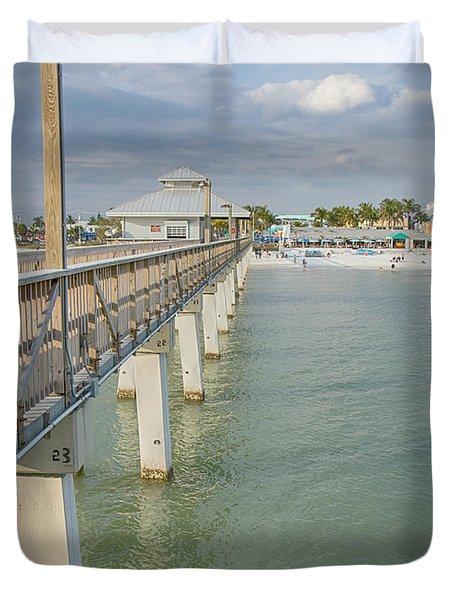 Fort Myers Beach Duvet Cover by Kim Hojnacki