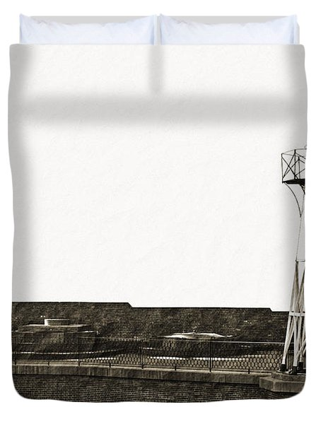 Fort Point Lighthouse Duvet Cover by Holly Blunkall