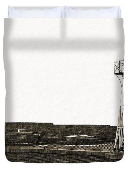 Fort Point Lighthouse Duvet Cover