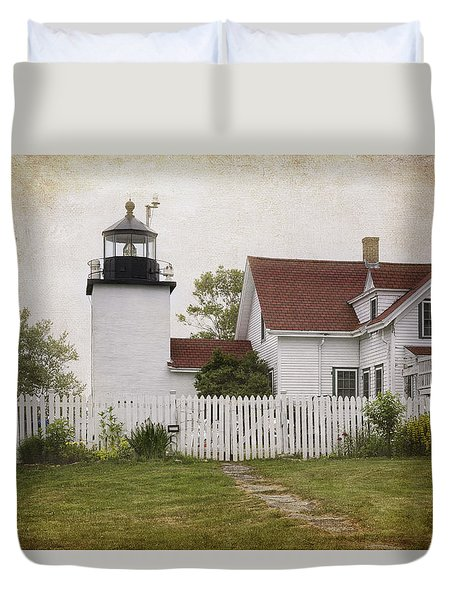 Fort Point Lighthouse Duvet Cover by Joan Carroll