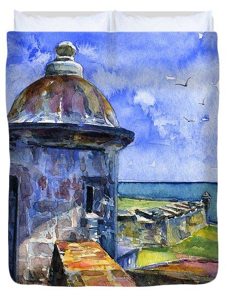 Fort San Juan Puerto Rico Duvet Cover
