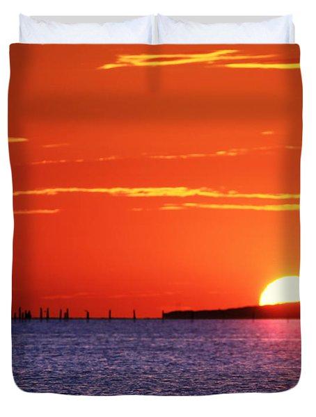 Fort Story Sunrise Duvet Cover