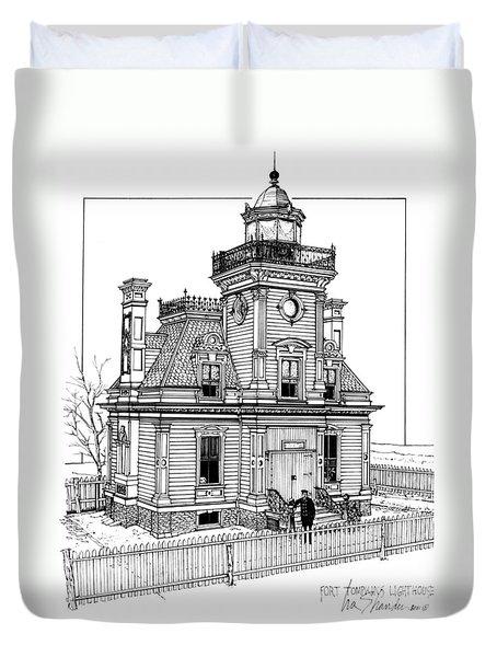 Fort Tompkins Lighthouse Duvet Cover