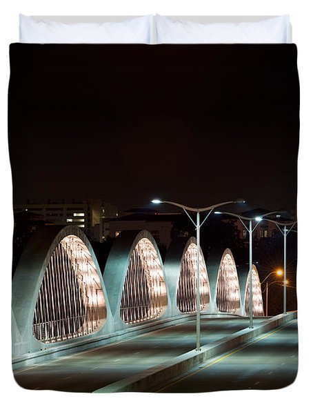 Fort Worth Seventh Street Bridge Oct 10 2014 Duvet Cover