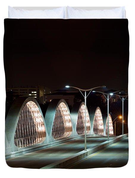 Fort Worth Seventh Street Bridge Oct 10 2014 Duvet Cover